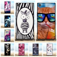 For Sony Xperia XA1 Ultra Case Luxury 3D Pattern Cat Black Cover Xa1 6.0 Phone Cases Soft Silicone Coque Bags