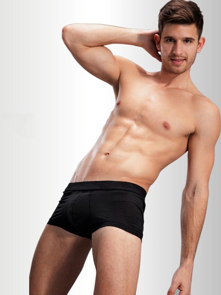 Cotton Boxer Panties Underwear Jockstrap Homme Man Calzoncillos U-Convex for 4pcs/Lot