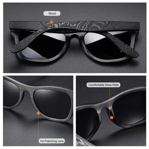 Image 2 - Мужские солнцезащитные очки GM Wood, брендовые дизайнерские поляризованные бамбуковые солнцезащитные очки для вождения, деревянные очки с оправой, Oculos De Sol Feminino S1610B
