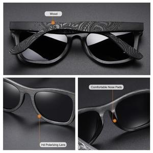 Image 2 - GM עץ משקפי שמש גברים מותג מעצב מקוטב נהיגה במבוק משקפי שמש עץ משקפיים מסגרות Oculos דה סול Feminino S1610B