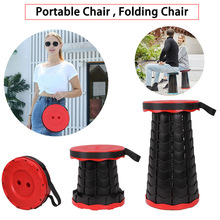 Folding Chair Telescopic Retractable Stool Picnic Outdoor Fishing-Traveling Space Saving