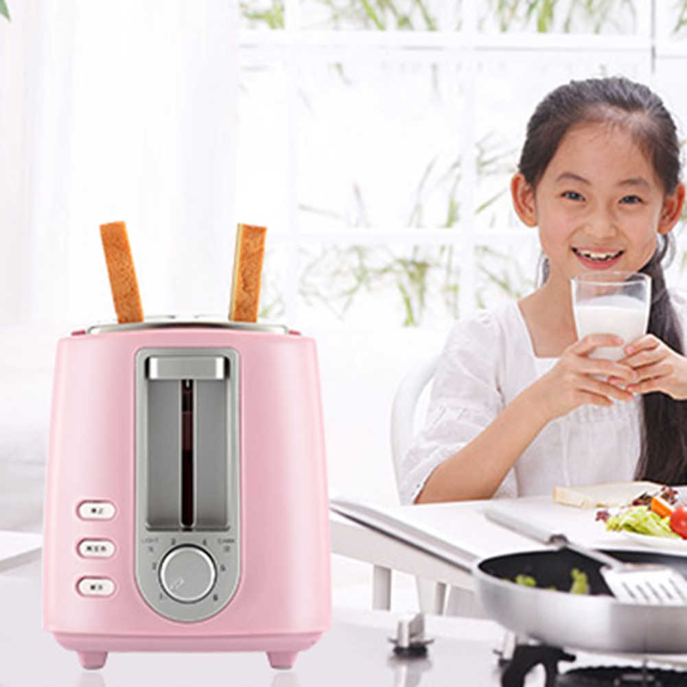 2-Slice Double-sided Electric Bread Toaster Home Kitchen Breakfast Maker Machine Set