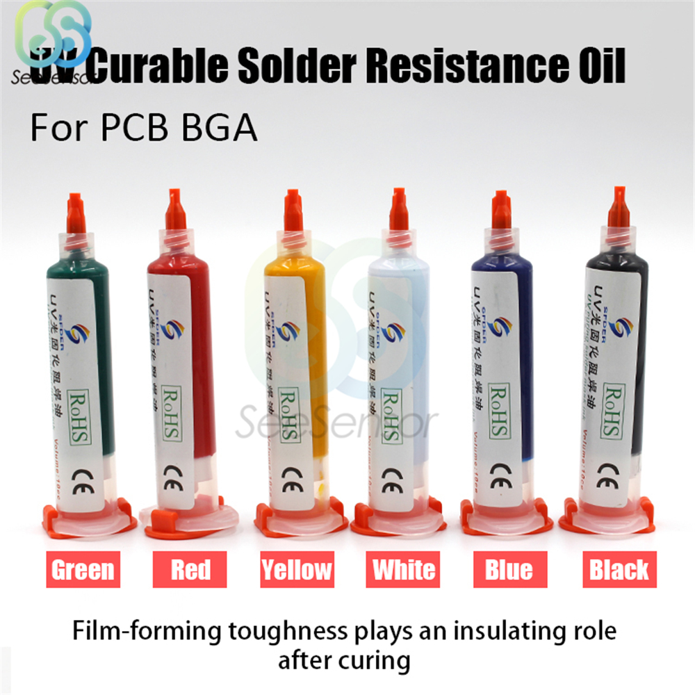 10cc UV Curable Solder Resistance Oil Solder Mask Ink Welding Fluxes Oil For Mobile PCB BGA Circuit Board Protecting