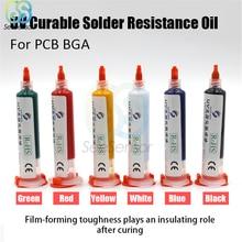все цены на 10cc UV Curable Solder Resistance Oil Solder Mask Ink Welding Fluxes Oil for Mobile PCB BGA Circuit Board Protecting онлайн