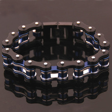 лучшая цена Cool Motorcycle Men's Bracelet Punk Fashion Bike Motorcycle Chain Knight Men's 316L Stainless Steel Bracelet Riding Jewelry