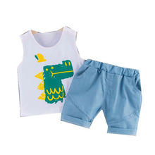 New Summer Baby Boys Girls Clothes Children Cotton Cartoon Vest Shorts 2Pcs/sets Toddler Fashion Costume Infant Kids Tracksuits