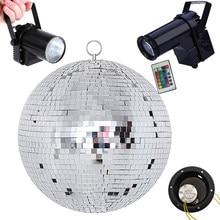 Thrisdar-Bola de espejo colgante para discoteca, D25CM, 30CM, Bola de discoteca, Bola de discoteca, 10W, RGB, Pinspot, luz de escenario