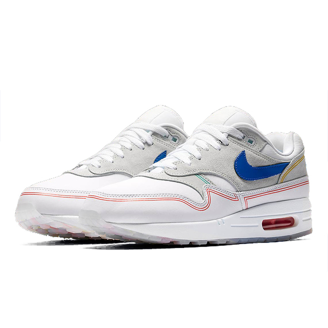 Original Nike Air Max 1 Centre Pompidou Men's Running Shoes Sport Outdoor Sneakers Athletic Designer Fashion Footwear AV3735-002