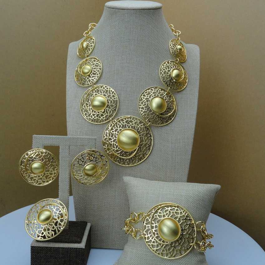 Yuminglai Dubai Costume Jewellery High Quality Big Jewelry sets for Women FHK6437