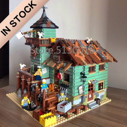 In Stock 16050 The Old Fishing Store 21310 2109pcs City Creator Street View MOC Model Building Blocks SY1147 6004