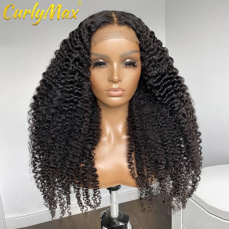 CurlyMax глубокая волна 18 20 дюймов длинные кружевные передние человеческие волосы парики бразильские водно-вьющиеся фронтальные парики для че...
