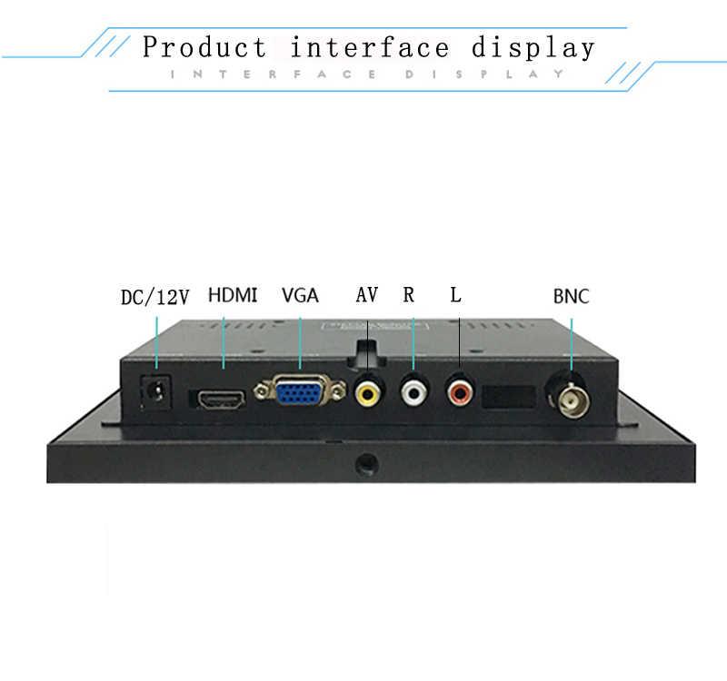 PANTALLA ANCHA BNC de 8 pulgadas 1024X600 HD, monitor LCD 16:9, carcasa de metal industrial, ordenador con pantalla HDMI