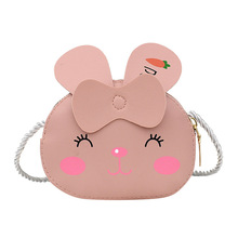 Cute PU Leather Animal Print Kindergarten Baby Coin Purse Cartoon Mini Children Shoulder Messenger Bags