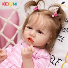 Fashion Reborn Boneca Baby Doll Toys Full Silicone body Realistic Newborn Toddler Doll Toys Kids Playmate Birthday Gift
