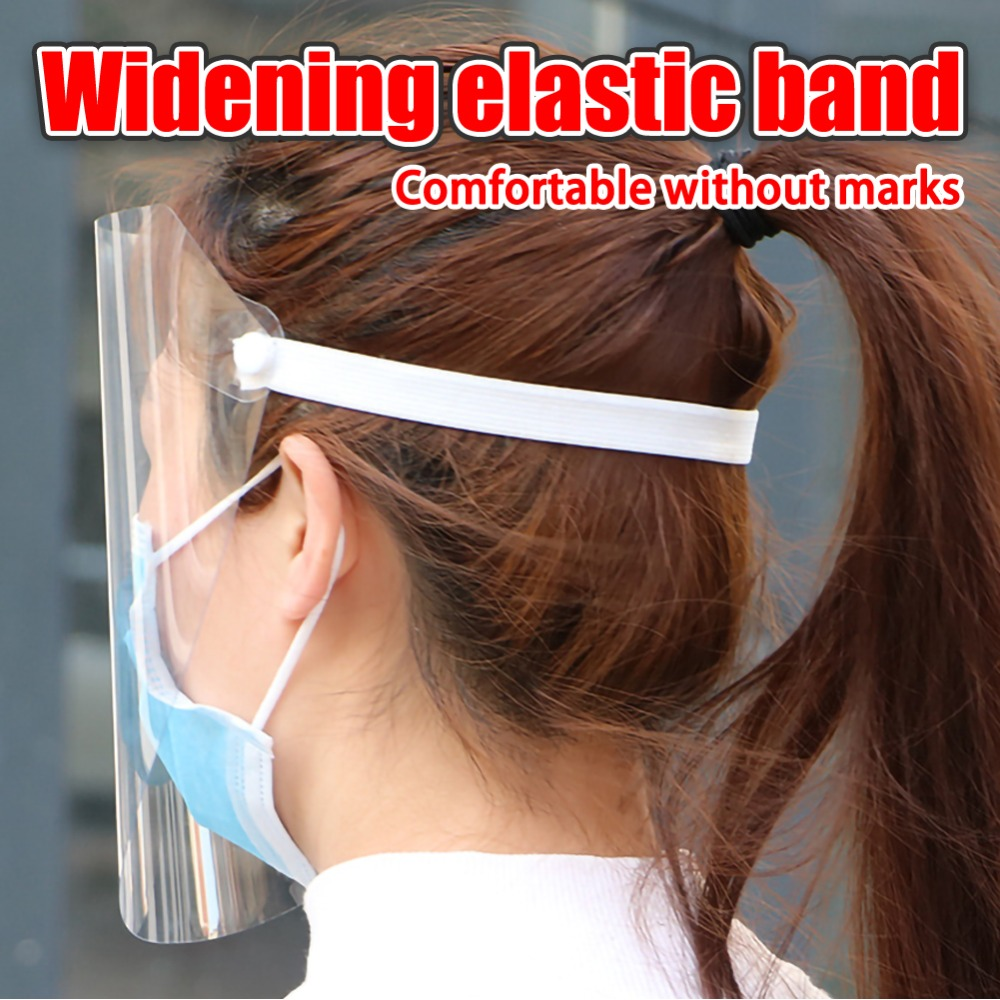 4/10PCS Clear Face Cover with Double-Sided Film and Adjustable Headband to Protect Full Face 11
