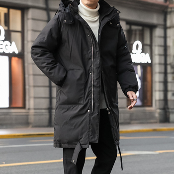 2019 3  Winter Korean Version Of The Loose Pocket Thick Long Hooded Cotton Clothing Fashion Casual Warm Black / Beige M-XL