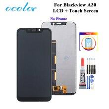 "Ocolor עבור Blackview A30 LCD תצוגת מסך מגע 5.5 ""Digitizer החלפה + כלים + דבק + סרט עבור blackview A30 LCD"