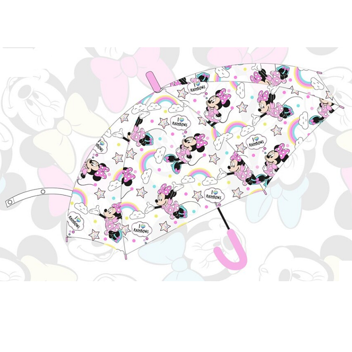 Paragua Automatic Minnie Disney Transparent 48 Cm.