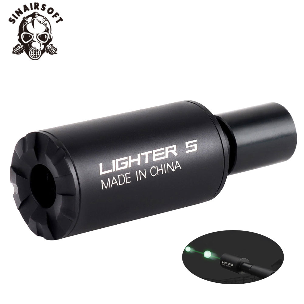 Tactical Airsoft Auto Lighter S 14mm/10mm Tracer Flash Barrel Decorator For Automatic Rifle Pistol CS Shooting Paintball