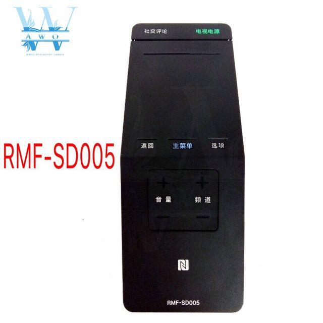 새로운 원래 1 pcs 중국어 키 RMF SD005 소니 bravia 스마트 tv 터치 패드 nfc 원격 제어