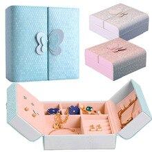 Portable Storage Zipper Organizer Jewelry Box