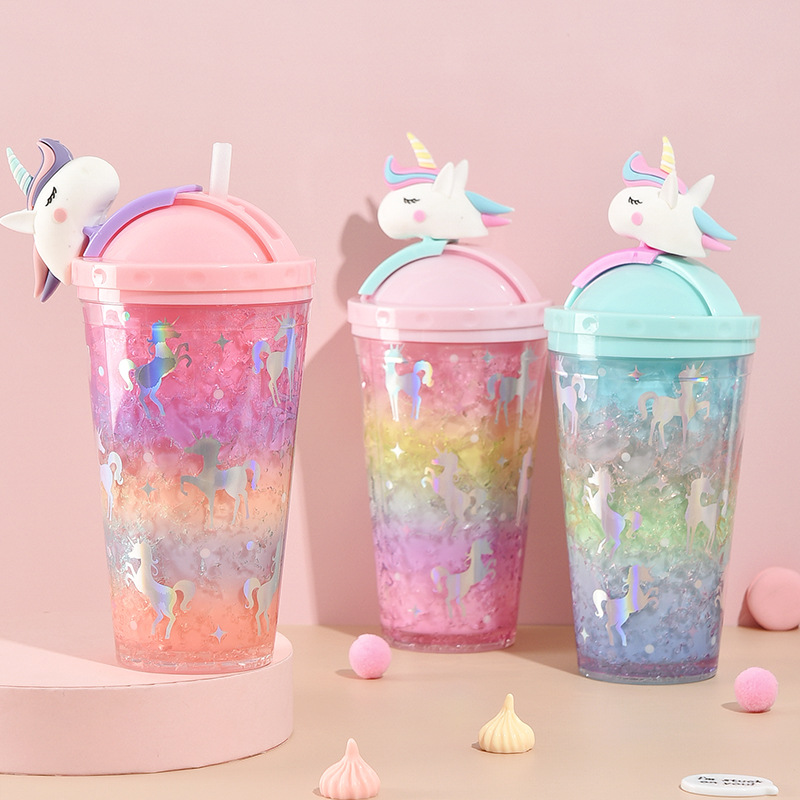 Unicorn Creative Water Bottle with Straw