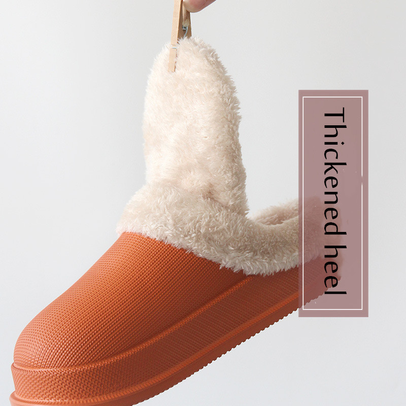 2019 Woman House Slippers EVA Warm Fur Slippers Plush Home Slipper Indoor Floor Shoes for Female Winter New Fashion Slippers