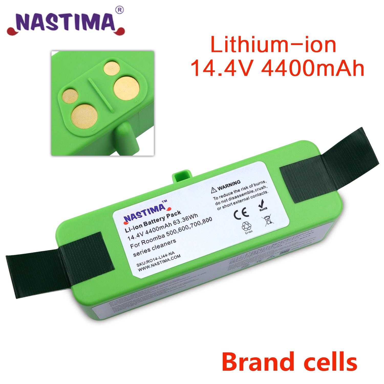 Nastima 4400 мА/ч, литий-ионный аккумулятор Батарея совместим с iRobot Roomba R3 500 600 700 800 серии 500 550 560 620 650 675 760 770 780 870