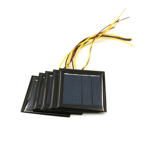 5PCS 2V 100MA Solar Cells with wire poly Li-ion Battery charger Power Bank voltage LED lamp Solar Panel 1.2 V DC