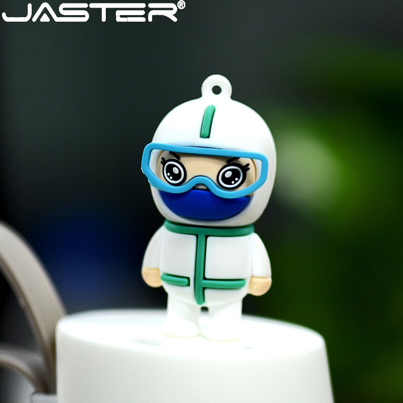 JASTER new cartoon USB flash drive 4GB 8GB 16GB 32GB pen drive 64GB 128G white angel 2.0 U disk USB stick doctors pendrive