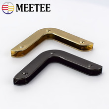 Meetee 10/30pcs 40mm Bag Corner Buckles Screw Decoration Hardware Accessories Handbag Edge Protection Metal Hook Buckle BF215