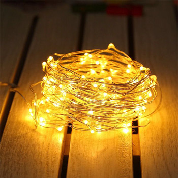 7m-52m Solar LED Light String Outdoor Waterproof Copper Wire String Holiday Fairy Lights For Christmas Party Wedding Decoration