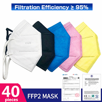 Fast Delivery FFP2 KN95 Dustproof Anti-fog And Breathable Face Masks Filtration Mouth Masks 5-Layer Mouth Muffle Cover Mask