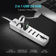 1pc USB 2.0 Hub 3/6 Ports USB Splitter Card Reader TF SD Card for Tablet Laptop Notebook Computer Accessories High Speed 480Mbps binful mini usb hub 3 0 super speed 5gbps 7 ports 1 charging portable micro usb 3 0 hub splitter with cable for pc accessories