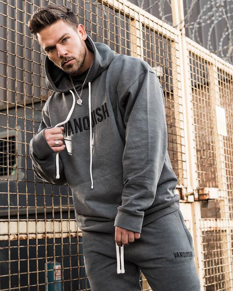 Muscle Fitness Sports Leisure Suit Men's Outdoor Exercise Pullover Hoody Men's Two-Piece Set A Generation