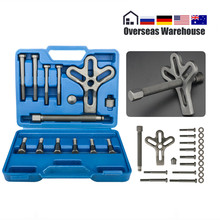 13 pçs ferramenta de remoção do extrator da roda de direção do carro balanceador harmônico ferramentas desmontagem especial do automóvel resistente reparação engrenagem do eixo manivela