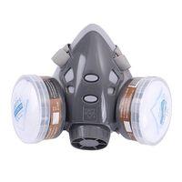 Máscara facial completa respirador máscara de gás filtro de poeira protetora máscara facial para pintura pulverização e65a|null| |  -