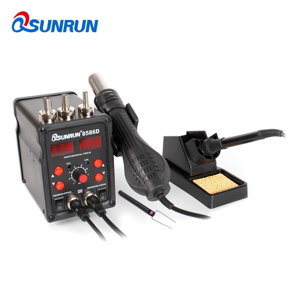 Temperature Adjustable Gun Two Constant Soldering 8586D Air Digital Iron One In Station Dual Air Soldering Hot Disp Electric Hot