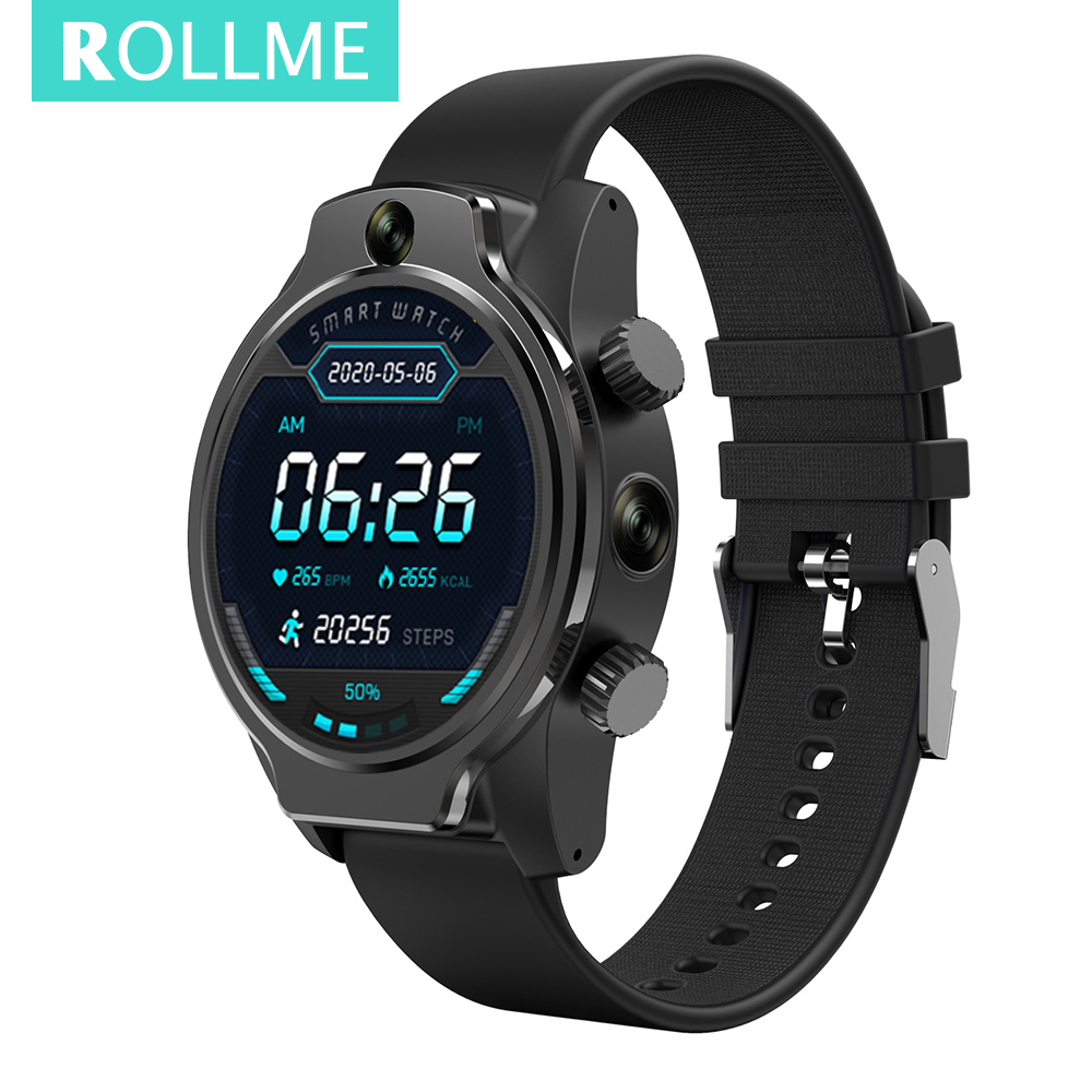 "Rollme s08 relógio inteligente para homem ip68 nível 50m à prova dwaterproof água dupla 8mp câmera 4g lte gps glonass 1.69 ""ips 1360mah smartwatch android"