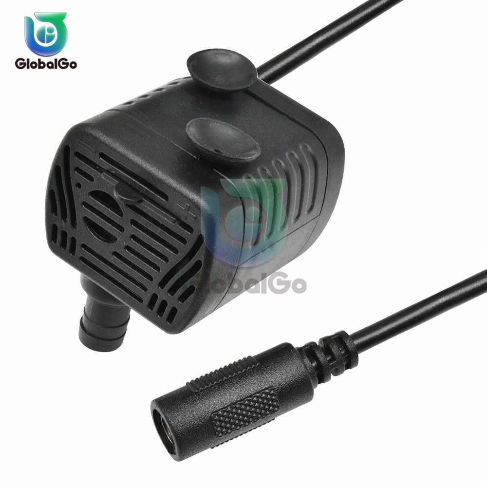 Ultra-ruhig DC 5V 12V 3W 200L/H Fluss Rate Wasserdichte Bürstenlosen Pumpe Mini Tauch wasser Pumpe Solar Micro USB Tauch Pumpe