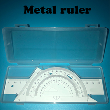 Metal Ruler Brand New 4 Piece / Set Of Aluminum Drawing Measurement Wavy Line Alloy Semicircle Triangle