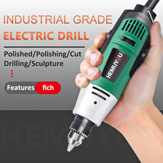 260W/480W high-power electric drill engraving machine with flexible shaft 6-position variable speed Dremel rotary power tool 2