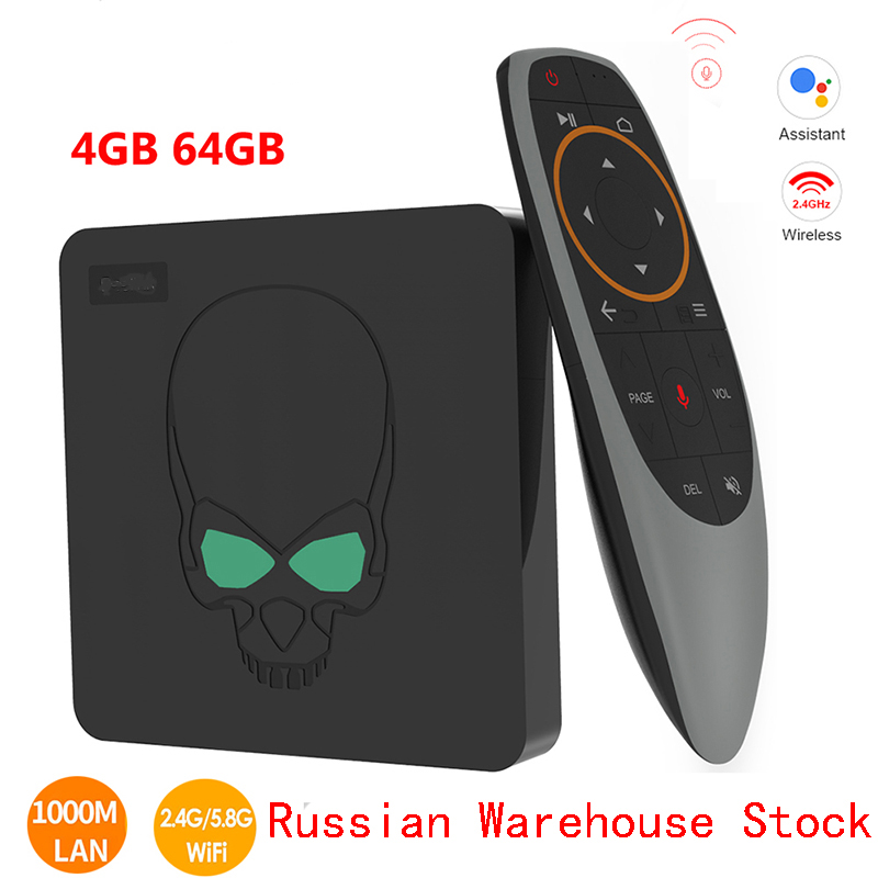 In Stock GT-King Android 9.0 TV BOX Amlogic S922X GT King 4G DDR4 64G EMMC Smart TV Box 2.4G+5G Dual WIFI 1000M LAN With 4K