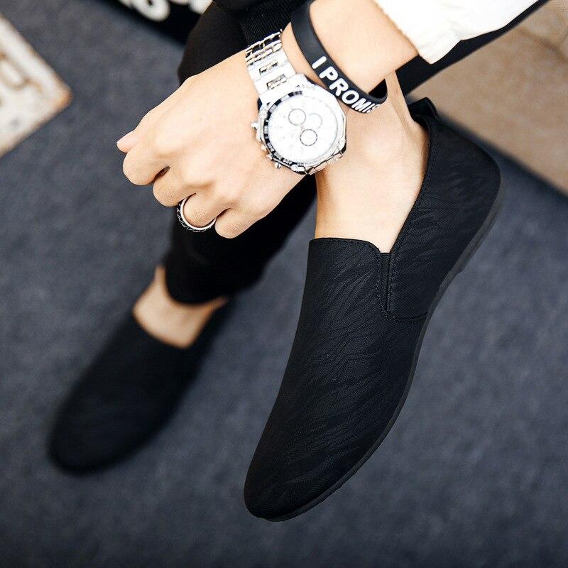 Plus Size Size 38 46 Leisure Soft Comfy Men Loafers Canvas Classics Flat Driving Shoes Concise Innrech Market.com
