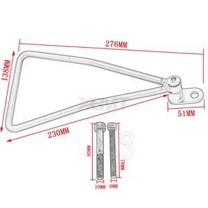 Image 2 - Motosiklet evrensel heybe destek barlar montajlar braket yan bagaj Honda süper Cub 50 65 70 90 C100 C125