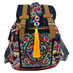 القبلية خمر همونغ التايلاندية الهندية العرقية بوهو الهبي حقيبة العرقية ، حقيبة ظهر حقيبة SYS-174
