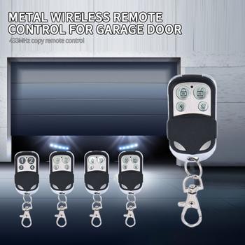 Uniwersalny 433MHZ 4-kanałowy pilot bezprzewodowy RF kod nauki klon powielacz dla samochodów bramy garażowe bramy drzwi Alarm tanie i dobre opinie centechia NONE CN (pochodzenie) 433 MHz