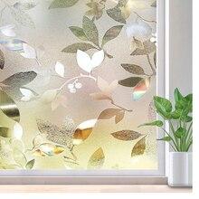 цена LUCKYYJ Decorative Window Film, Static Cling Privacy Window Sticker for Home Office, Removable Self-adhesive Window Tint Film онлайн в 2017 году
