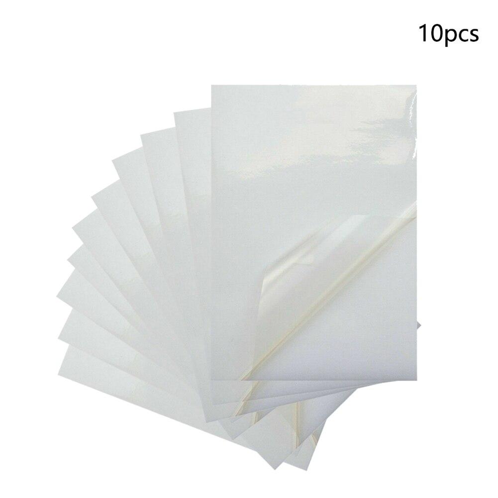 10x A4 pürüzsüz taşınabilir aşınma direnci hafif şeffaf etiket aksesuarları baskı kağıdı su geçirmez Anti-Break ofis PVC