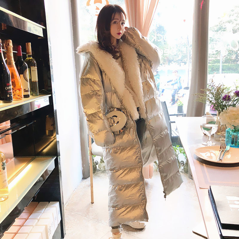 90% White Duck   Down   Jacket Women Thick Warm Long Winter   Coat   fur collar Female Parka Snow Outwear Puffer Jacket Waterproof YRF53